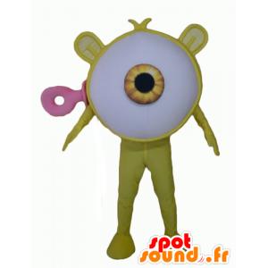 Tukku Mascot keltainen silmä jättiläinen avaruusolento - MASFR24352 - Mascottes non-classées