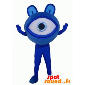 Mascot grote blauwe ogen, gigantische buitenaardse - MASFR24353 - Niet-ingedeelde Mascottes