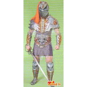 Mascot caballero de la Edad Media.Traje Tradicional