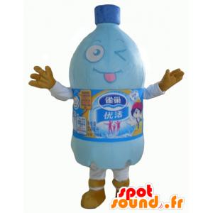 Plastic fles mascotte, een fles water
