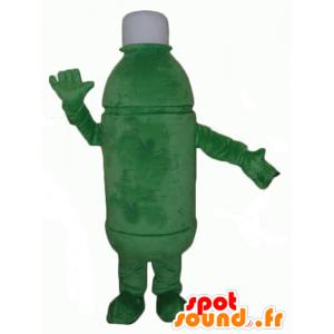 Mascotte de bouteille verte, géante
