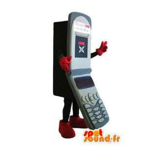 マスコットサイコログレー二つ折りの携帯電話
