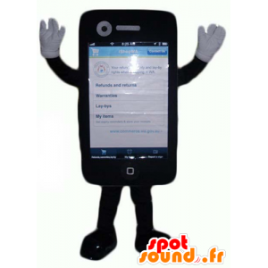 Mascot táctil del teléfono móvil gigante negro - MASFR24375 - Mascotas de los teléfonos