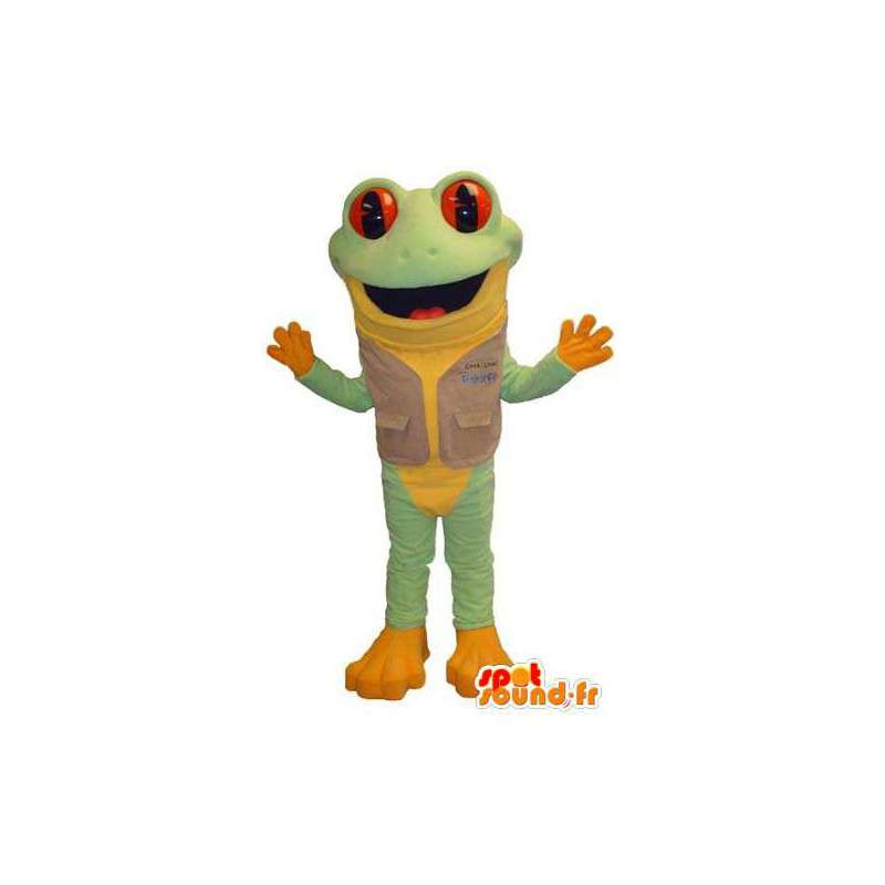 Mascot green and yellow frog. Frog Costume - MASFR006677 - Mascots frog