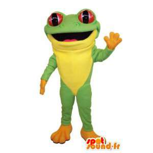 πράσινο και κίτρινο κοστούμι βατράχου. βάτραχος κοστούμι