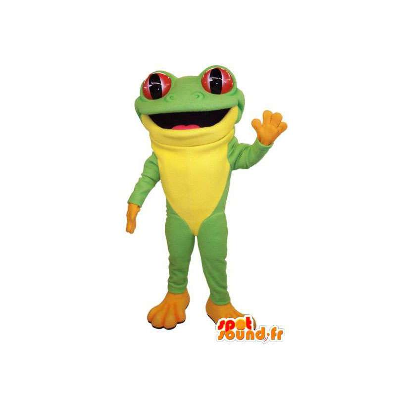 Costume green and yellow frog. Frog Costume - MASFR006678 - Mascots frog