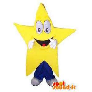 Mascot reus, glimlachen gele ster. Star Costume - MASFR006681 - Niet-ingedeelde Mascottes