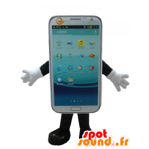 Cell Phone White mascot, touchscreen