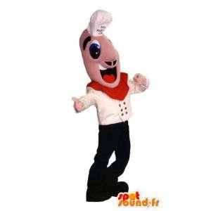 Mascotte hoofd aanpasbare kok. Chief Costume - MASFR006683 - man Mascottes