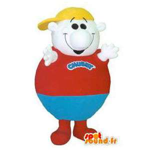 Mascot man all round, white, red and blue - MASFR006687 - Human mascots