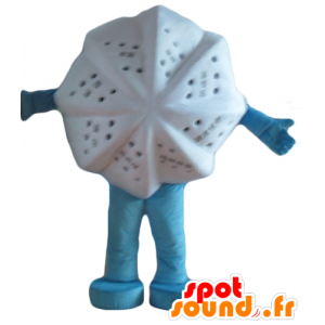 Mascot witte ster, ster van de feel-good - MASFR24435 - Niet-ingedeelde Mascottes