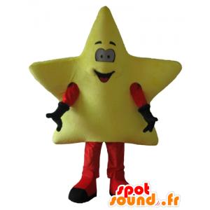 Mascot reusachtige gele ster, schattig en glimlachen - MASFR24445 - Niet-ingedeelde Mascottes