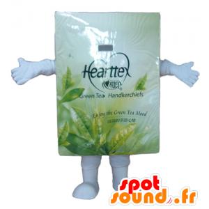 Mascot doosje theezakjes, wit en groen - MASFR24446 - mascottes objecten
