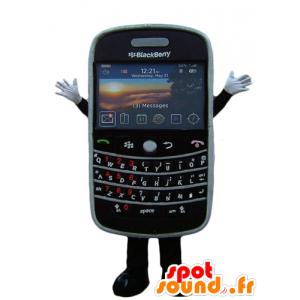 Mascot mobiele telefoon, zwart, BlackBerry reus