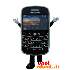 Mascotte de téléphone portable, noir, de BlackBerry géant