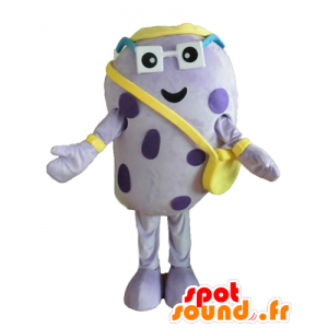 Mascot paars insect, erwt aardappel, groot en grappig - MASFR24451 - mascottes Insect