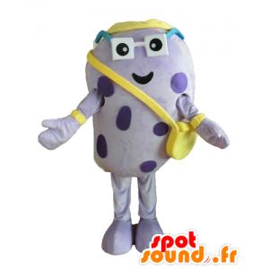 Mascot purple insect, pea potato, giant, funny - MASFR24451 - Mascots insect