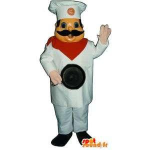 Cabeça da mascote do cozinheiro personalizável. Costume Chief - MASFR006693 - Mascotes homem
