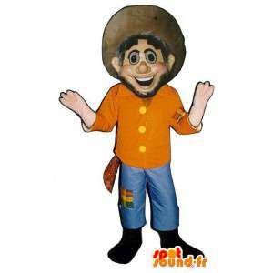 Mascotte cowboy. Vestito occidentale - MASFR006695 - Umani mascotte