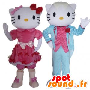 2 μασκότ, ένα από Hello Kitty και η άλλη του φίλου της - MASFR24479 - Hello Kitty μασκότ