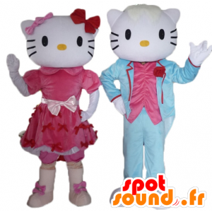 2 maskoti, jeden z Hello Kitty a ostatní z jejího přítele - MASFR24479 - Hello Kitty Maskoti