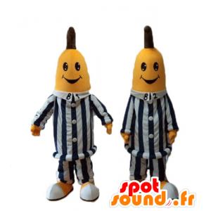 Bananas in Pyjamas Maskottchen, Cartoon Australian - MASFR24480 - Obst-Maskottchen