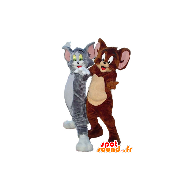 Tom og Jerry maskot, kjente figurer fra Looney Tunes - MASFR24489 - Mascottes Tom and Jerry