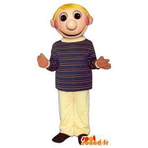 Blonde gutten maskot, skole - alle størrelser