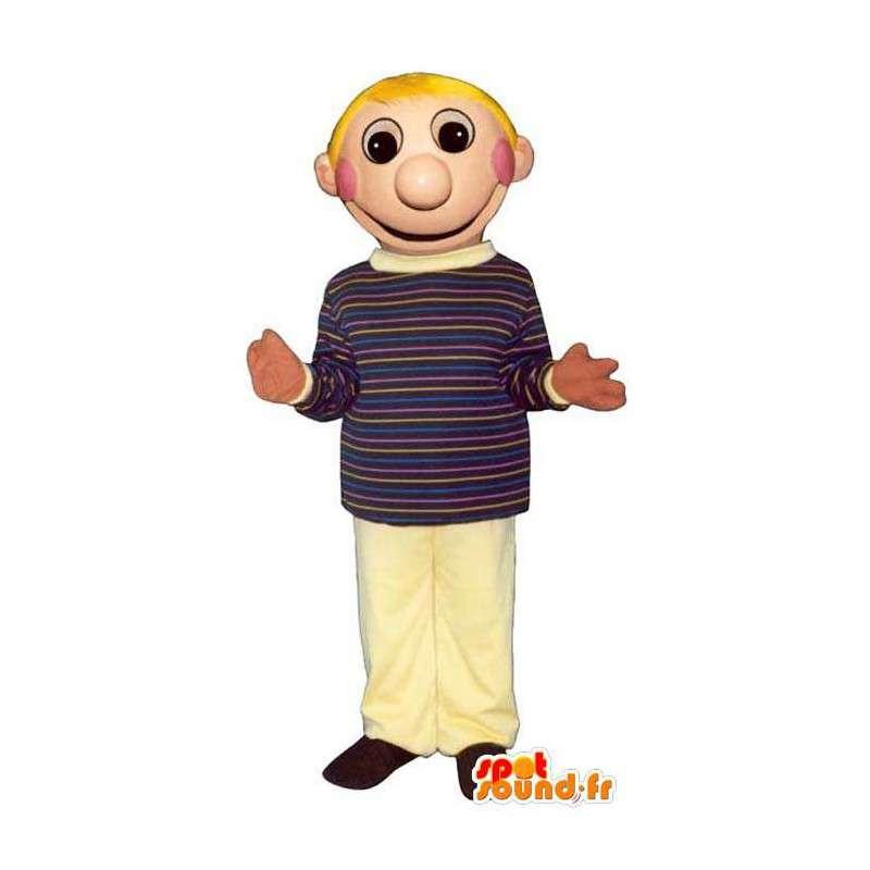 Blonde gutten maskot, skole - alle størrelser - MASFR006703 - Maskoter gutter og jenter