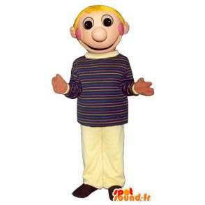 Mascotte de garçon blond, d'écolier - Toutes tailles - MASFR006703 - Mascottes Garçons et Filles