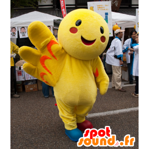 Mascotte Haba-Tan, gigante uccello giallo - MASFR25001 - Yuru-Chara mascotte giapponese