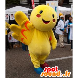Haba-Tan maskot, kæmpe gul fugl - Spotsound maskot kostume