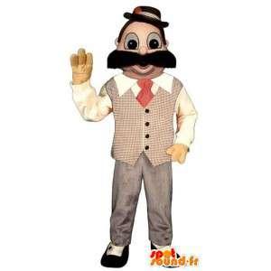 Mies maskotti puku isolla viikset - MASFR006705 - Mascottes Homme