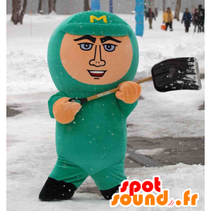 Mascotte Maruyaman, uomo in combinazione verde - MASFR25002 - Yuru-Chara mascotte giapponese