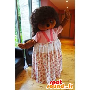 Mascotte Sylvanian, riccio marrone con un abito rosa - MASFR25003 - Yuru-Chara mascotte giapponese