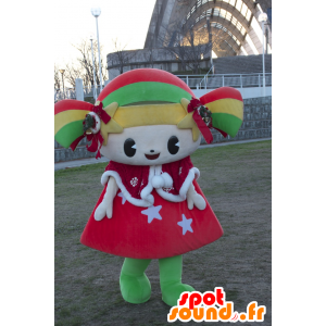Kirara-chan maskot, färgglad flicka, leende docka - Spotsound