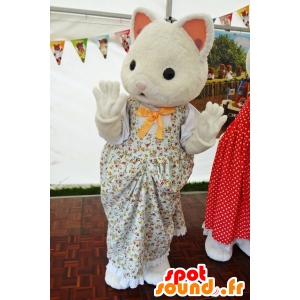 Maskottchen der Sylvanian Familie, White Cat Kleid - MASFR25010 - Yuru-Chara japanischen Maskottchen
