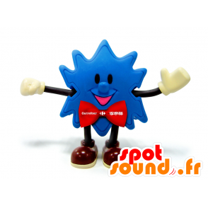 Mascotte Blue Star, con un arco cravatta rossa - MASFR25011 - Yuru-Chara mascotte giapponese