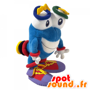 Mascotte d'Izzy, extra-terrestre bleu des JO1996 d'Atlanta - MASFR25012 - Mascottes Yuru-Chara Japonaises