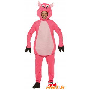Pink and white pig mascot - MASFR25013 - Pantyhose