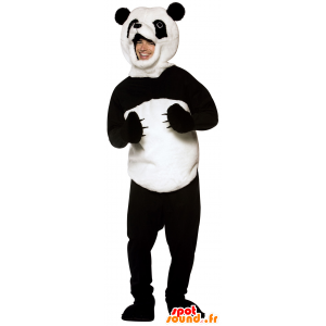 Mascot panda preto e branco, macio e peludo - MASFR25014 - desestocagem
