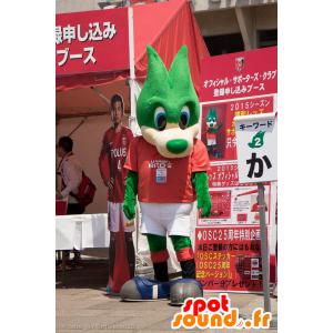 Urawa Reds mascot, green, blue-eyed wolf - MASFR25015 - Yuru-Chara Japanese mascots