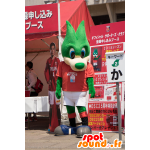 Mascot Urawa Reds vihreä suden sinisilmäinen - MASFR25015 - Mascottes Yuru-Chara Japonaises