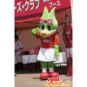 Μασκότ Ουράβα κόκκινα, πράσινα λύκος με μπλε μάτια - MASFR25016 - Yuru-Χαρά ιαπωνική Μασκότ