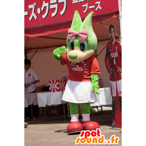 Urawa Reds maskot, grön varg med blå ögon - Spotsound maskot