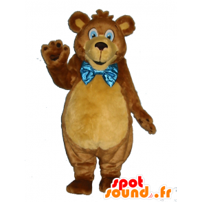 Marrón peluche mascota, suave, con una pajarita - MASFR25021 - Pantimedias