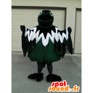 Mascote pica pau, pássaro tricolor, verde, branco e preto - MASFR25024 - Yuru-Chara Mascotes japoneses