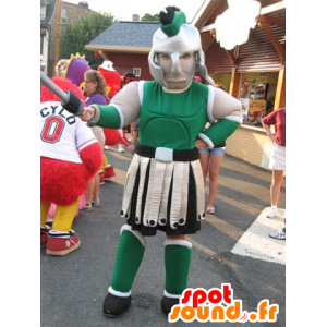 Gladiator μασκότ, με ένα πράσινο πανοπλία - MASFR25025 - Yuru-Χαρά ιαπωνική Μασκότ