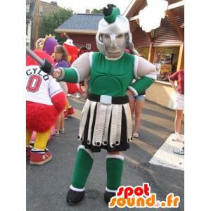 Gladiator-maskot med grøn rustning - Spotsound maskot kostume