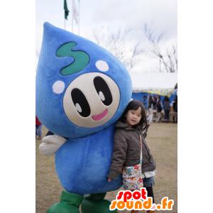 Mascotte Afterglow, goccia gigante di acqua blu - MASFR25026 - Yuru-Chara mascotte giapponese